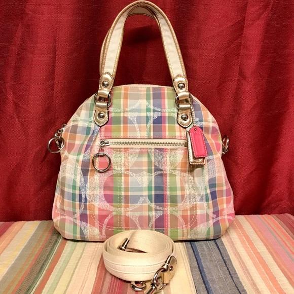 Coach Handbags - COACH POPPY MADRAS FOLDABLE SHOULDER CROSSBODY BAG 37e1874ab61bf